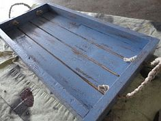 How to make a new wooden tray - then transform it into a vintage-y look.