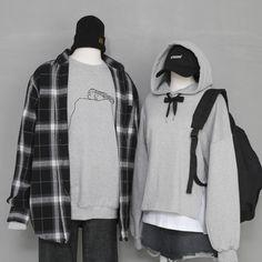 Fashion Couple, Cute Fashion, Girl Fashion, Fashion Looks, Fashion Outfits, Womens Fashion, Matching Couple Outfits, Future Clothes, Korean Street Fashion