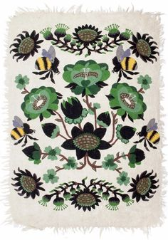 Tikau felted carpet Bombroo - Green version x 180 cm) Design by Klaus Haapaniemi for Tikau