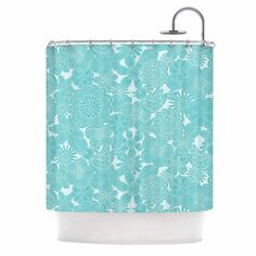 Shop Wayfair for A Zillion Things Home across all styles and budgets. 5,000 brands of furniture, lighting, cookware, and more. Free Shipping on most items.#aqua #curtain #bath #shower #homedecor #birds #flowers #pattern #kessinhouse