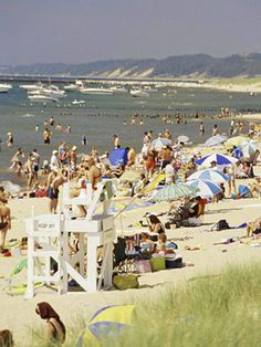 Oval Beach in Saugatuck, Michigan #Midwest