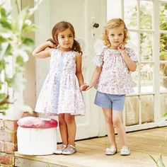 The White Company US. Esme Floral Dress (1-5yrs) | Featuring our gorgeous new Esme floral print, which is exclusive to us, this lovely cotton dress is in our bestselling shape. The sleeveless design has an inserted panel at the front and neckline, with an elasticated waistband and beautifully full skirt. Made from pure cotton, it's light and breathable, too. Pinning from the UK? -> http://www.thewhitecompany.com/the-little-white-company/childrens-new-in/esme-dress--floral-(15yrs)/