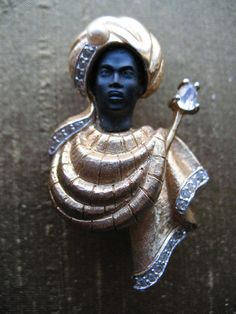 African Prince Blackamoor Brooch on Etsy