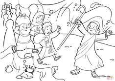 Preschool Coloring Pages, Bible Coloring Pages, Free Printable Coloring Pages, Coloring Pages For Kids, Coloring Sheets, Preschool Bible, Kids Bible, Kids Coloring, Sea Crafts