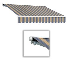 AWNTECH 14 ft. Galveston Semi-Cassette Manual Retractable Awning (120 in. Projection) in