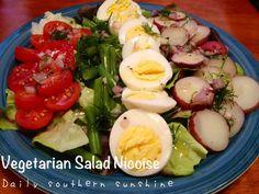 Vegetarian Nicoise Salad via @Lora Hogan (Daily Southern Sunshine)