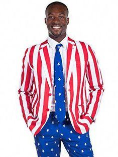 3a4c756d7a3 The perfect Tipsy Elves Men s American Flag Suit Blazer and Pants -  Patriotic Suit Outfit for