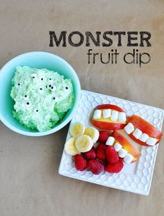 Halloween monster dip for kids party food ideas