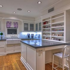 """Like the large peninsula. """"sewing"""" Room Design Ideas, Pictures, Remodel and Decor"""