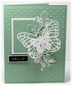 butterfly hello card by Becky