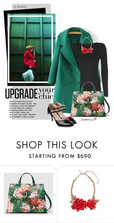 """Upgrade Your Chic"" by beebeely-look ❤ liked on Polyvore featuring Gucci, Oscar de la Renta, women's clothing, women, female, woman, misses, juniors, floralprint and gucci"