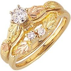 Black Hills Gold Wedding Set