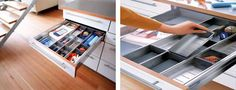 Kitchen Storage Solutions - Products - Blum ORGA-LINE..At last something which will keep 'the kitchen drawer' tidy :)