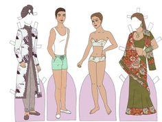 Indian Couple II Paper Doll - Katerine Coss - Picasa-verkkoalbumit