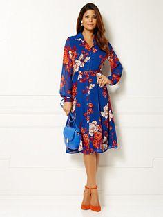 Eva Mendes Collection - Pia Shirtdress - Floral #blueroofind