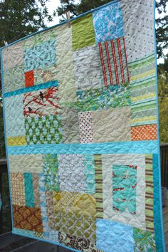 Custom Earthy Toddler Quilt.  Gender Neutral for a Great Shower Gift Idea. Made To Order.. $165.00, via Etsy.
