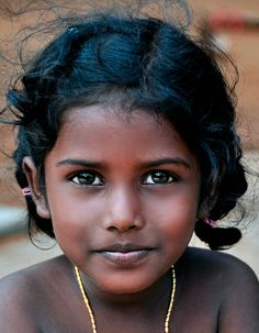 Girl in India by Joe Routon
