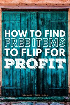 Do you think you need hundreds or thousands of dollars to start flipping items for a profit? Think again! Finding free items worth money is possible! Earn More Money, Earn Money From Home, Make Money Online, How To Make Money, Furniture Refinishing, Refurbished Furniture, Furniture Redo, Repurposed Furniture, Home Based Business