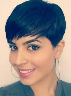 Bob Hairstyles For Thick, Short Pixie Haircuts, Short Bob Hairstyles, Hairstyles With Bangs, Sassy Haircuts, Short Hair Wigs, Short Hair Styles, Bob Ross Wig, Corte Y Color