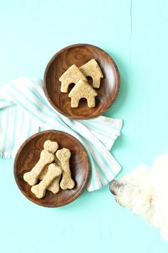 Easy and simple homemade shredded cheese and oat dog treat recipes // diy dog biscuit! @KaufmannsPuppy