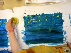 Van Gogh in kindergarten Art History Memes, Art History Lessons, Van Gogh Art, Art Van, Vincent Van Gogh, First Grade Crafts, Kindergarten Art Lessons, Group Art Projects, Preschool Art