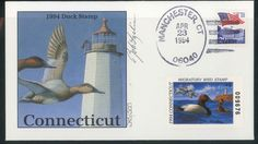 CT2 Conecticut 1994 Federal Duck FDC Rob Leslie Artist Signed 245/500