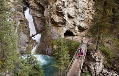 Johnston Canyon, banff, do not miss the chance to hike up this fantastic trek.  love!
