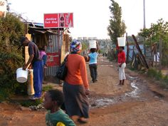 South Africa, Pretoria, 2007. Coca Cola for some, tapwater for everyone else if you walk a few blocks.