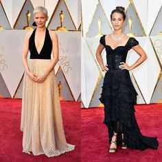 The @louisvuitton team is still going strong! Best supporting actress Michelle Williams and last year's Best Supporting Actress winner Alicia Wikander. #oscars2017 #bazaarthailand #harpersbazaarthailand  GETTY  via HARPER'S BAZAAR THAILAND MAGAZINE OFFICIAL INSTAGRAM - Fashion Campaigns  Haute Couture  Advertising  Editorial Photography  Magazine Cover Designs  Supermodels  Runway Models