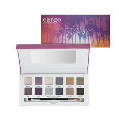 Let Cargo take you on a Getaway with this 12 shade eye shadow palette! Eye Shadows are arranged into 3 quads and 6 duos of expertly coordinated shades to achieve a variety of looks. This palette will help you create your perfect look, no matter where in Best Eyeshadow Palette, Nude Eyeshadow, Eye Palette, Eyeshadow Brushes, Makeup Palette, Palette Organizer, Cargo Cosmetics, Revolution Eyeshadow, Create Yourself
