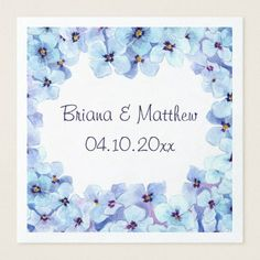 Modern Spring Violets Wedding Dinner Napkin - spring wedding diy marriage customize personalize couple idea individuel