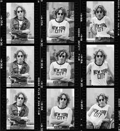 John Lennon photographed by Bob Gruen, 1974.