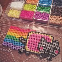 Nyan Cat perler beads by  y__a__o