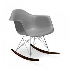 eames cool grey rar style rocker chair eames style walnut stained legs eames - Charles Eames Schaukelstuhl