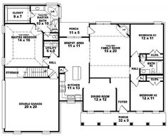 #654158 - One and a half story 3 bedroom, 2 bath traditional style house plan : House Plans, Floor Plans, Home Plans, Plan It at HousePlanIt.com