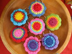cute keychains... got to learn crocheting....