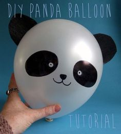 The DIY Fox: DIY Panda Balloon Tutorial. could be fun to make a few? (or extra fun to take photos of the kids holding the panda in front of their faces!!)