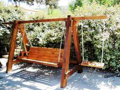 Wooden Swing Chair, Wooden Garden Swing, Wooden Pergola, Outside Furniture, Indoor Outdoor Furniture, Garden Furniture, Outdoor Decor, Yard Swing, Pergola Swing