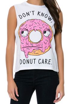 Pyknic's Don't Know, DONUT Care Muscle Tee