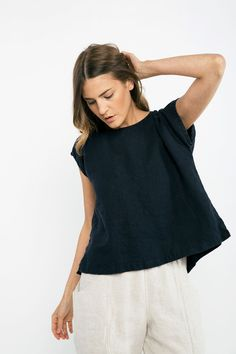 Josephine Vented Shell in Midweight Linen