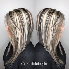 WEBSTA @ melsmithhairstylist - Finished up the 12 hour day with a #throwback to the chunky look! #behindthechair #modernsalon #chunkyhighlights