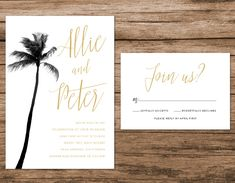 HELLO & Thanks for visiting my shop! >>> A B O U T ⋆ T H I S ⋆ L I S T I N G <<< This suite includes: - Invitation Card 5 x 7 - Response Card 5 x 3.5 - Invitation Envelope - Response Card Envelope * * * Wording, layout and text color may be changed to your liking! * * * Add on