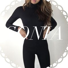 • Reserved • for Sonia • Black Trousers Leggings (S) • Black Turtleneck Bodysuit (S) • Light Grey Puffy Sweater (S) Other
