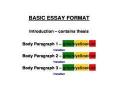 autistic and ell students respond well to a color coded basic essay format a complete sample essay is also included it too is color coded so that - Basic Essay Examples