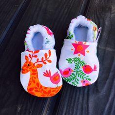 Buy Now Kiddo Kicks // Baby Booties in Multi-Reindeer by...