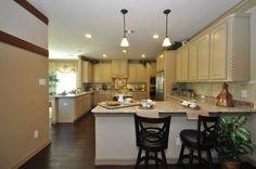 Cream Colored Kitchen Cabinets www.BrightonHomes.com