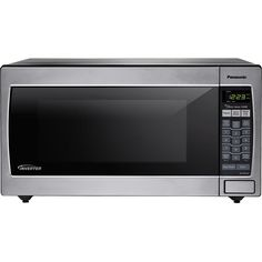 Panasonic NN-SN752S Stainless 1250W 1.6 Cu. Ft. Countertop Microwave Oven with…