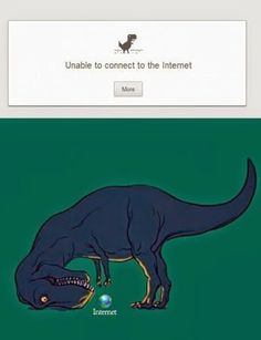 The dinosaur on Google Chrome suddenly makes so much sense.