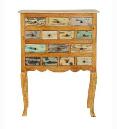 Muebles Portobellostreet.es: Comoda Multicolor Tonle - Cómodas Vintage - Muebles de Estilo Vintage
