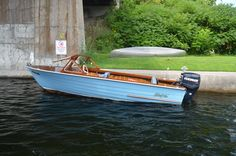 """Beautiful """"Lakefield"""" boat at Youngs Point, Ontario"""